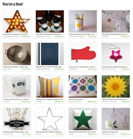 'You're a Star!' Etsy List by H is for Home