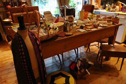 H is for Home's vintage fair 'dry run' on our kitchen table