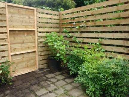 Our new wooden garden fence from outside