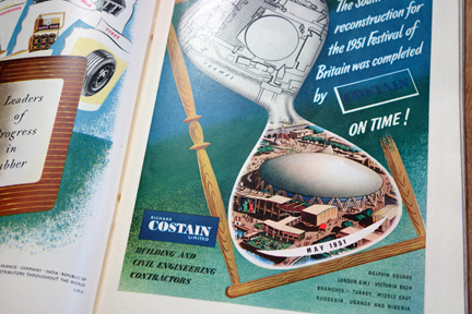Costain advert in original 'Festival of Britain' catalogue