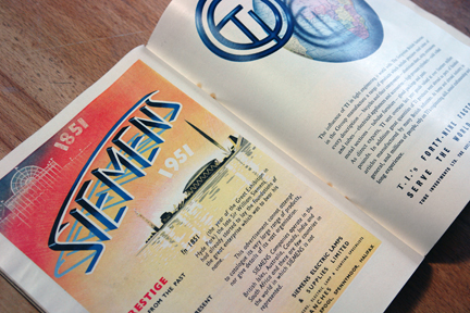 Siemens advert in original 'Festival of Britain' catalogue