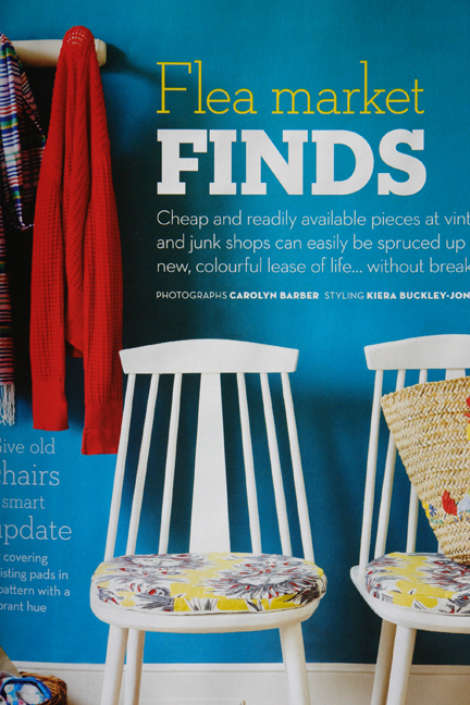 """Flea Market Finds"" feature in the May 2012 edition of Homes and Antiques magazine"