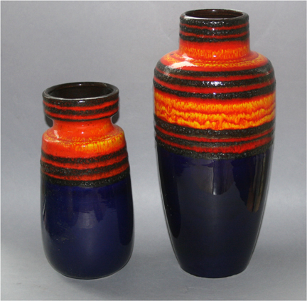pair of Fat Lava floor vases