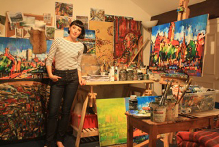 Olivia Pilling in her studio