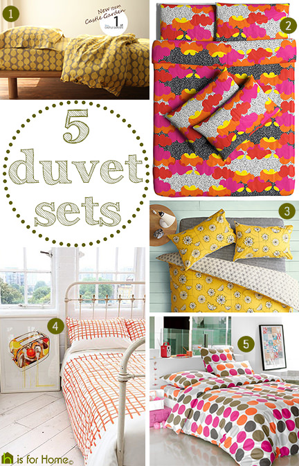 selection of 5 duvet sets