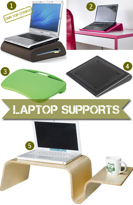 selection of 5 laptop supports