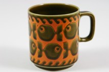 vintage Hornsea Pottery mug with fish