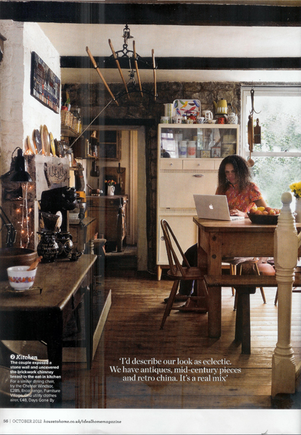 cutting from the October 2012 Ideal Home magazine showing Adelle in our kitchen diner