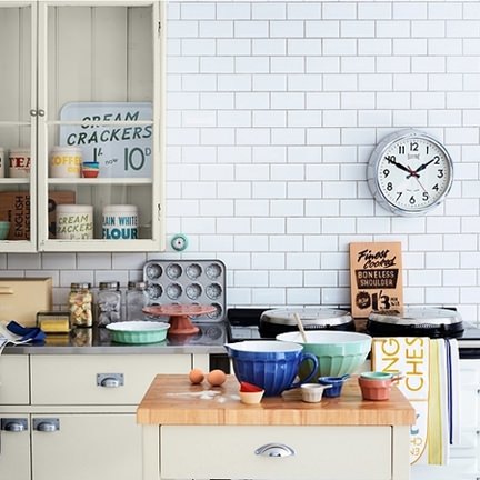 retro kitchen storage designed by Wayne Hemingway and available at John Lewis