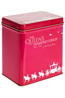 Red Jubilee English Breakfast tea tin from Liberty of London