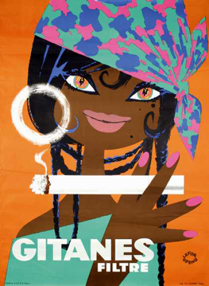 vintage Gitanes advertising poster designed by Lefor Openo