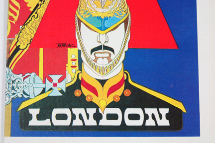 detail from Trans-World Airways London flight menu