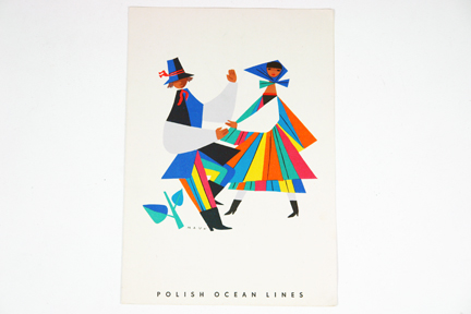 1960s Polish Ocean Lines menu