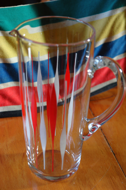 vintage glass jug from a selection of vintage items sourced in August 2011