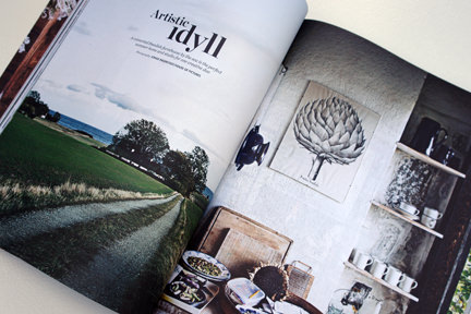 "title page of the ""Artistic Idyll"" feature from the launch issue of Elle Decoration Country"