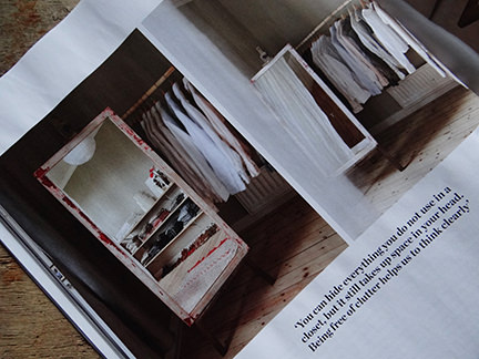 "clothes on a hanging rail in ""Simply Beautiful"" article from the February 2014 edition of Elle Decoration magazine"