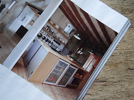 "kitchen in ""Simply Beautiful"" article from the February 2014 edition of Elle Decoration magazine"