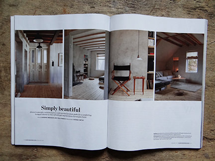 """Simply Beautiful"" article from the February 2014 edition of Elle Decoration magazine"
