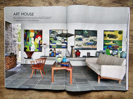May 2014 Elle Decoration magazine with 'Art House' article double page spread