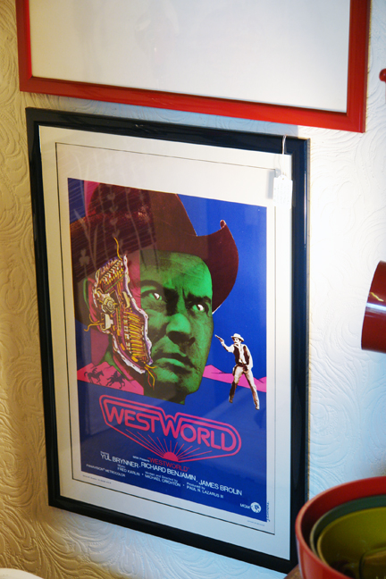 framed original vintage 'Westworld' film poster