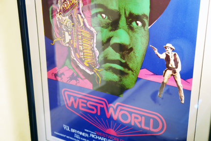detail of original vintage 'Westworld' film poster