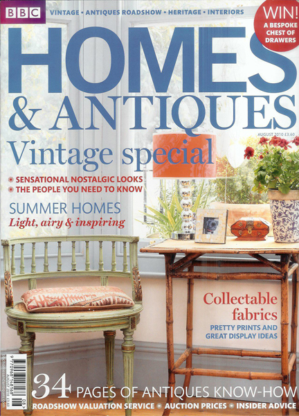 August 2010 BBC Homes & Antiques magazine cover