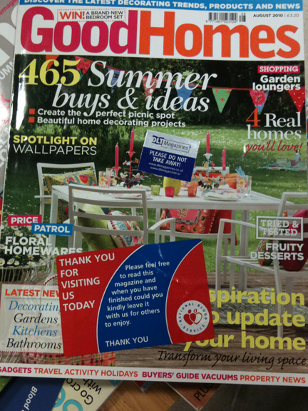 August 2010 Good Homes Magazine cover