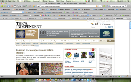 3 September 2009 Independent newspaper website 'The 10 Best... Saucepans' screen shot