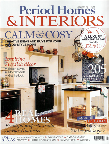 January 2011 Period Homes & Interiors magazine cover