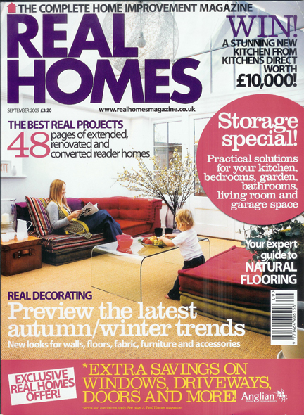 September 2010 Real Homes Magazine cover
