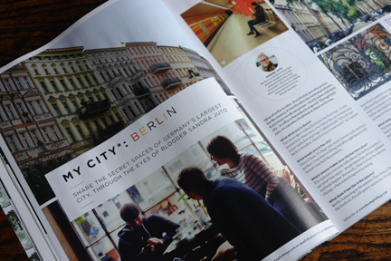 magazine article about Berlin by Sandra Juto