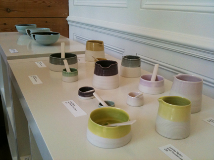 ceramic jugs, pots & spoons made by Louisa Taylor and available at Snug Gallery in Hebden Bridge