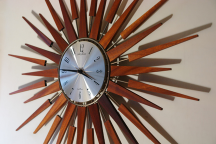vintage Seth Thomas starburst clock