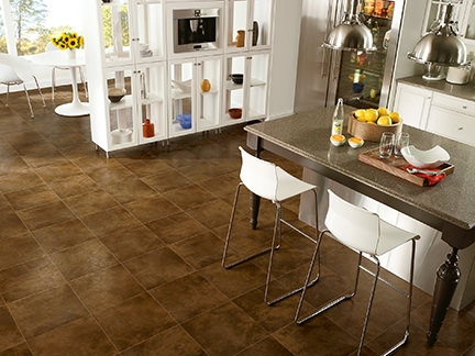 Design Distinctions copper ceramic tile flooring