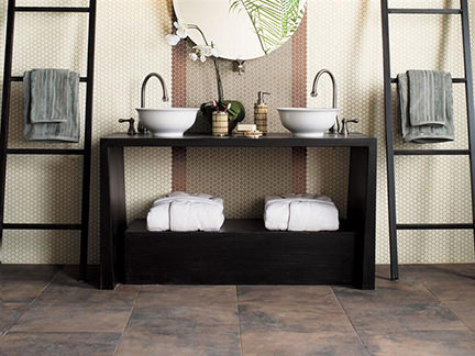 Floorcraft Catlin porcelain floor tiles in a bathroom