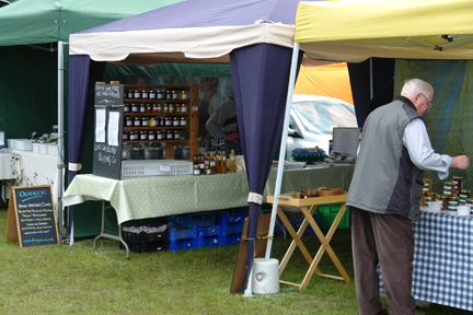 food stalls at the Todmorden Agricultural Show