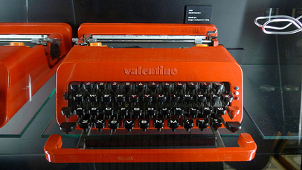 vintage 1970s/80s 'Valentine' typewriter designed by Ettore Sotsass