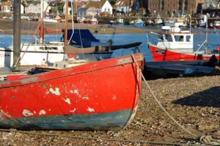 boats in the harbour, Wells-next-the-Sea