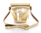 gold coloured Zatchels Barrel bag