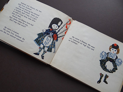 vintage World Dolls Series Scotland children's book featuring dolls Andrew and Sheena