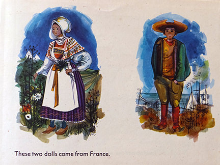 French dolls Marie and Pierre from the France edition in the World Dolls Series of children's books