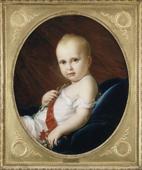 """Napoléon Bonaparte and his son, who was called """"Franz."""""""