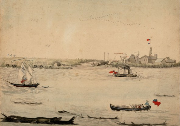 The Balize as it looked in the early 1820s
