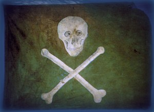 The type of pirate flag found in De Putron's trunk.