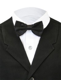 Satin Bow Tie - Solid Black