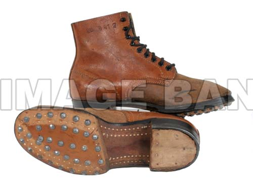 W2ge9d German M1937 Army Ankle Boots Dated 1940