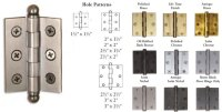 2 1/2 inch x 1 3/4 inch Cabinet Butt Hinge (each) w/Ball ...