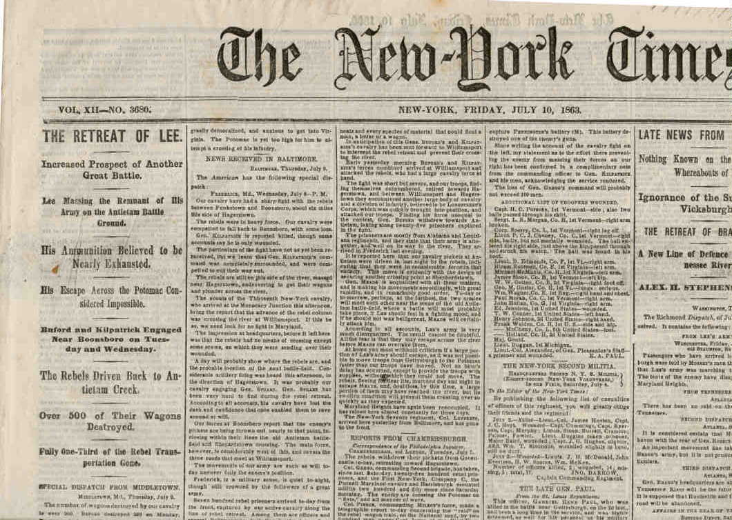 1700s newspaper template