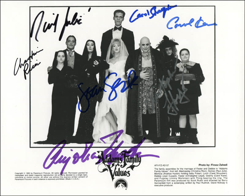 Addams Family Values Movie Cast - Photograph Signed with Cosigners