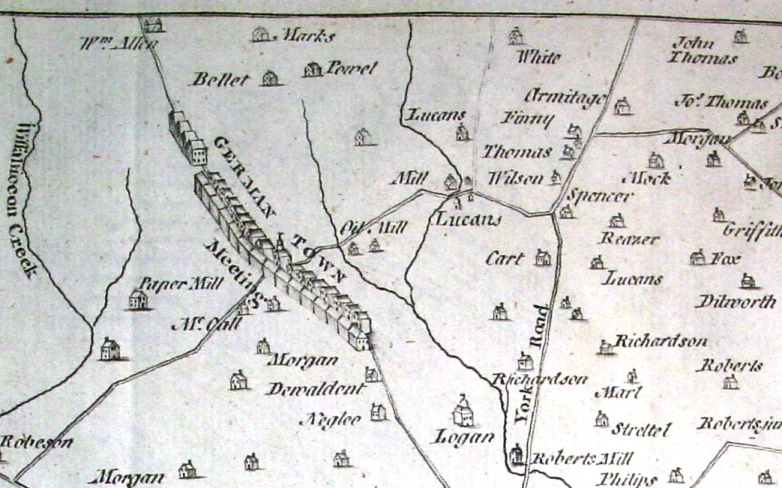 1777 Map of Philadelphia and Adjacent Parts by Scull and Heap
